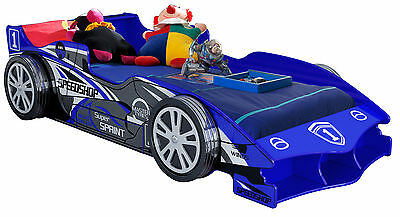 Blue F1 Luxury Racing Boy Car Bed with drawer - Kids & Children