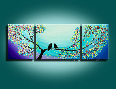 MODERN ABSTRACT HUGE CANVAS ART WALL DECOR OIL PAINTING-Birds(no frame)