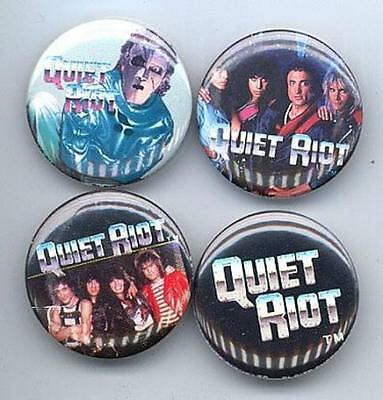 QUIET RIOT 1983 Pinback Buttons Pins Badges 4 Different