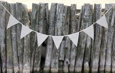 Christmas Bunting Garland Banner 7 White Triangle Hanging Flag Pennant Decor