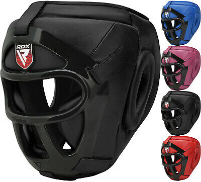RDX Detachable Bar Head Guard Helmet Boxing MMA Gear Protector Martial Arts AU
