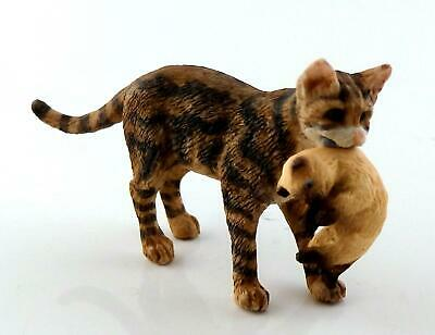 Dolls House Falcon Miniature Pets Tortoiseshell Mother Cat Carrying Her Kitten