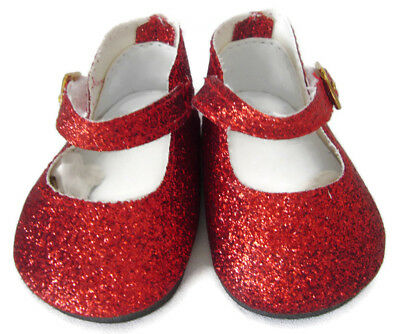 """CHRISTMAS Doll Clothes fits 18"""" American Girl  Sparkle Red Glitter Shoes"""