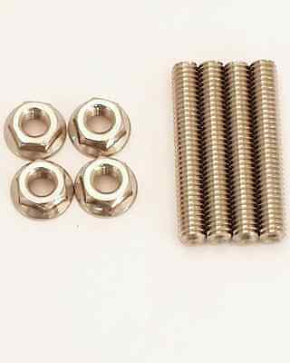 """Canton Carb Mounting Studs 85-510 2"""" Long 5/16""""-18 Thread Stainless Lock Nut"""