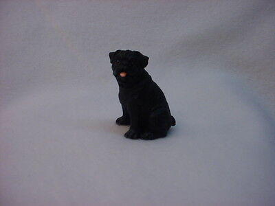 PUG black puppy TiNY DOG Resin Figurine MINIATURE Collectible Mini Statue NEW