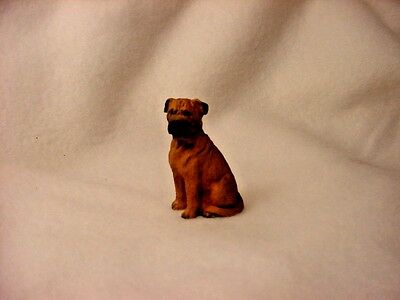 BULLMASTIFF puppy TiNY Dog FIGURINE Resin HAND PAINTED MINIATURE Mini Statue NEW