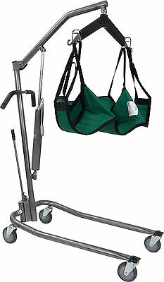 Drive Hydraulic Medical Patient Lift with Six Point Cradle Silver Vein