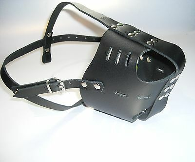 Strong Real leather Dog Muzzle Amstaff  American Staffordshire Terrier and Other
