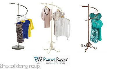 Planet Racks Boutique 29 Ball Spiral Apparel Display - 3 Colors