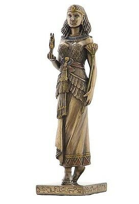 Egyptian Queen Holding Anubis God of Afterlife Bronze Finish Statue #WU75648A4