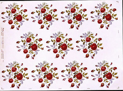 CERAMIC  DECALS ROSE POM -POM 303549 11 SHEET 9 cm LONG X 9 cm RIGHT PRICE