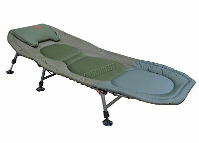 Carp Fishing Bed Chair Bedchair Camping Heavy Duty 6 Adjustable Legs FB-021 New