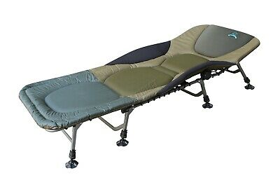 Carp Fishing Bed Chair Bedchair Camping Heavy Duty 8 Adjustable Legs FB-022 New