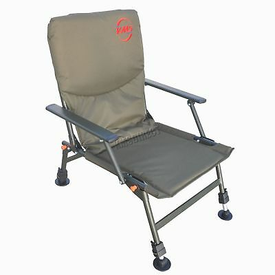 Outdoor Folding Fishing Chair Camping Heavy Duty 4 Adjustable Legs Green FC-053