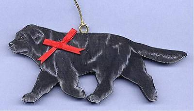 Trotting NEWFOUNDLAND Wooden Dog ORNAMENT-Hand Crafted!