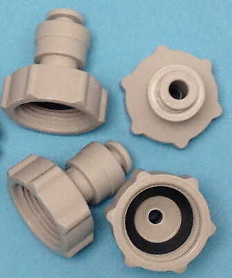 "Water Filter/RO Inlet Tap Connector Push-Fit 3/4""-1/4"""