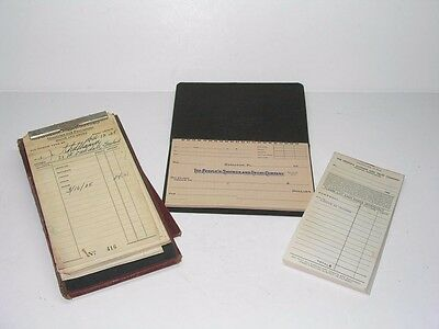 Antique Hazleton Pa Peoples Bank Checks And Christino Grocery Store Receipt Book