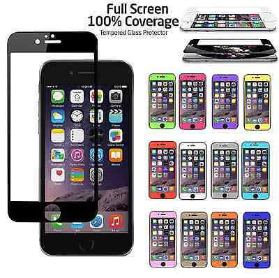 Full Coverage Tempered Glass Color Screen Protector for iPhone 6S / 6S Plus