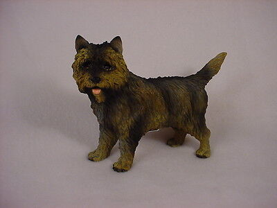 BRINDLE CAIRN TERRIER dog HAND PAINTED FIGURINE puppy COLLECTIBLE Resin Statue