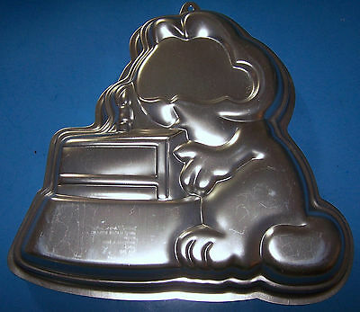 Vintage 1981 wilton garfield cake pan 2105 2447 missing insert and face plate