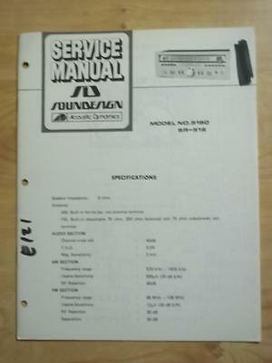 soundesign service manual for the 91077 8 track tape deck receiver rh picclick com