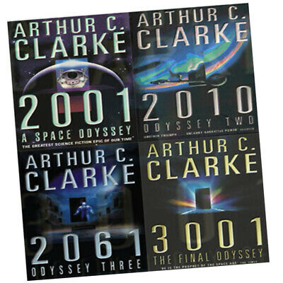 Arthur C. Clarke Science Fiction Collection 4 Books Set (2001: A Space Odyssey)