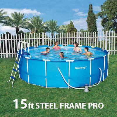15ft Bestway Above Ground Swimming Pool 457cm x 122cm 56100