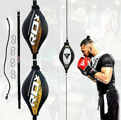 RDX Leather Double End Dodge Speed Ball MMA Boxing Floor to Ceiling Punch Bag CA