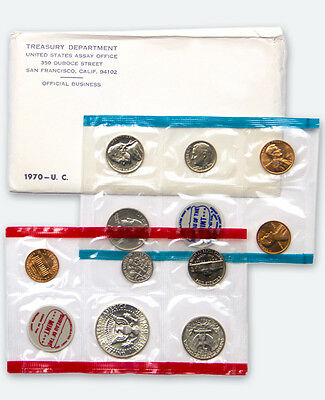 1970 United States U.S. Mint Uncirculated Coin Set SKU1377
