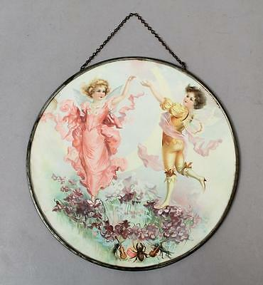 Charming Antique 19c Victorian 1880s/90s Dancing Fairy Flue Cover