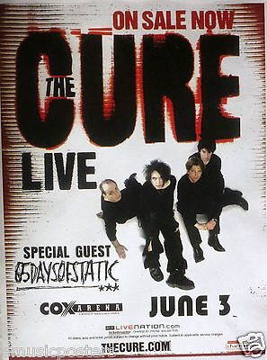 THE CURE 2009 SAN DIEGO CONCERT TOUR POSTER - Alternative Gothic Rock Music
