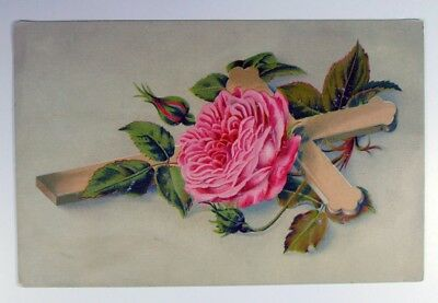 Patapsco Baking Powder Co. Baking Powder White Cross and Rose Trade Card