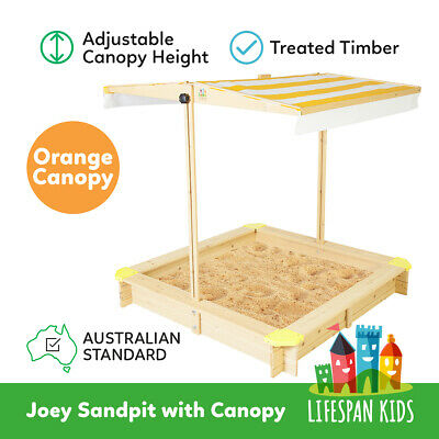 Sandpit/Sand Pit Toy with Canopy Wooden Outdoor Lifespan Kids