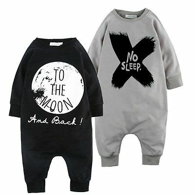 Baby Boys Kids Cotton Clothes Long Sleeve Romper Outfits Bodysuit Jumpsuit NEW