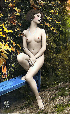 A4 Vintage 1920's Art Deco Pretty Nude Girls ..Victorian/Edwardian Beauties 242