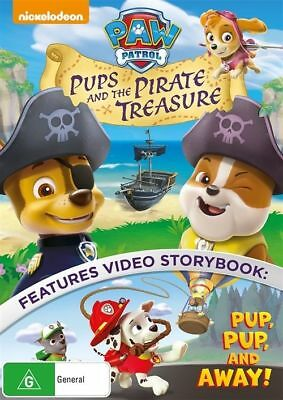 Paw Patrol: Pups and the Pirate Treasure DVD Region 4 New Sealed