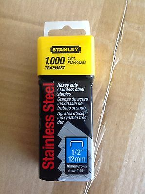 Stanley TRA708SST 1/2-Inch HD Stainless Steel Narrow Crown Staple New