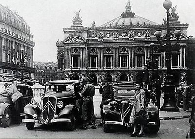Carte Postale / Postcard / Liberation De Paris / L'opera / Voiture / Traction