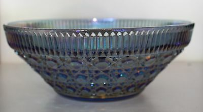 Vintage Indiana Blue Carnival Glass Salad Bowl - New in Box!