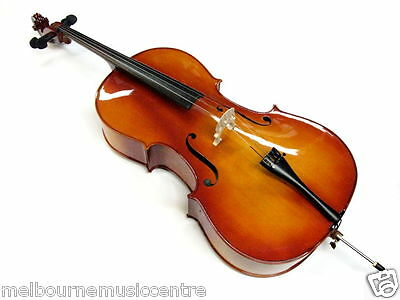 VALENCIA 4/4 CELLO OUTFIT Solid Carved Top & Back *w/Bow Gig Bag & Rosin* NEW!