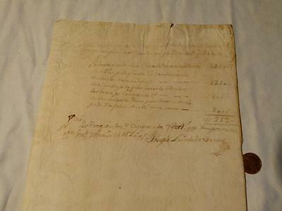 Antique Spain Spanish Manuscript 1760 Pictorial Watermark Document Letter #A26