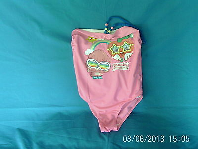Girls 10-11 Years - Pink Swimming Costume with Moshi Monsters Motif