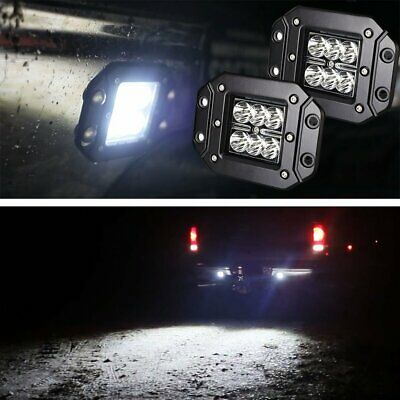 (2) Flush Mount 24W CREE LED Cubic Pod Lights For Truck Jeep Off-Road ATV