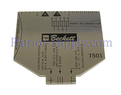 Beckett T501 Multipurpose Tee Gauge For Nozzle Assembly And Electrode Setting