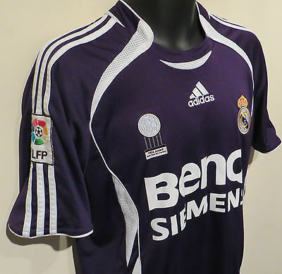 sports shoes 883f5 342e2 ADIDAS 06-07 REAL Madrid Football Shirt Soccer Jersey Camisa Size Yth/Adult  XS