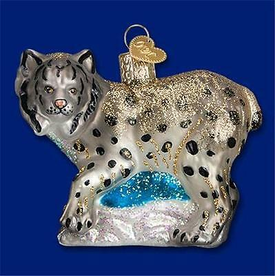 Lynx Spotted Wild Cat Old World Christmas Glass Cold Climate Ornament Nwt 12361