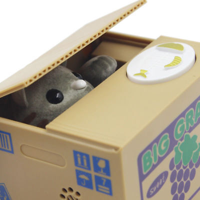 Cats animals still piggy banks banks registers vending collectibles 1 330 items picclick - Coin stealing cat piggy bank ...