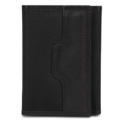 Travelon Safe ID Hack-Proof Accent Trifold Wallet With RFID Protection, Black