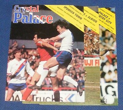 Crystal Palace Home Programmes 1980-1981