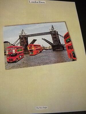 PAUL McCARTNEY and WINGS preserved 1978 Promo Display Ad LONDON TOWN new single